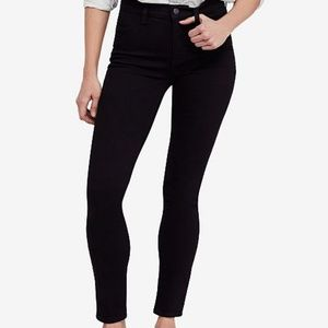 FREE PEOPLE High Rise Long & Lean Black Jeggings